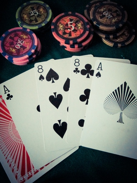 The Dead Man's Hand, with a prominent Ace of Spades
